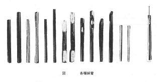 杉山和一が考案した各種鍼管