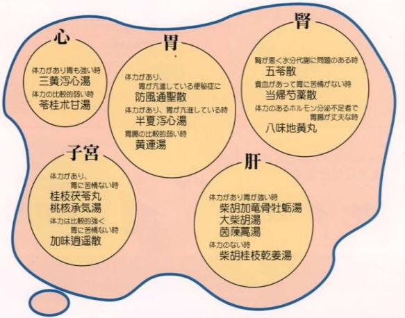 高血圧症に使用される漢方処方