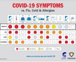 新型コロナウイルス感染症の症状早見表