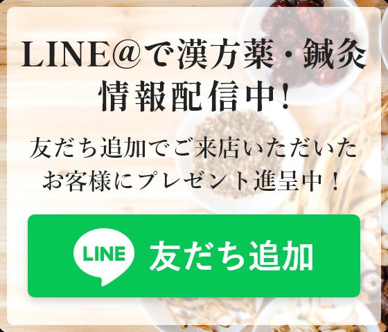 LINE@で漢方薬・鍼灸情報配信中!